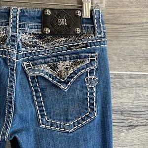 Miss Me boot cut embellished jeans 🎀